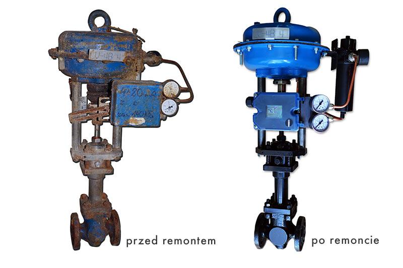 Serwis urządzeń automatyki - przed i po remoncie